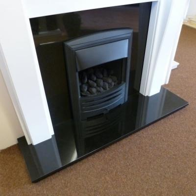 Granite Black Polished Hearth