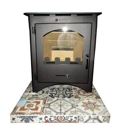 tapestry stove hearth