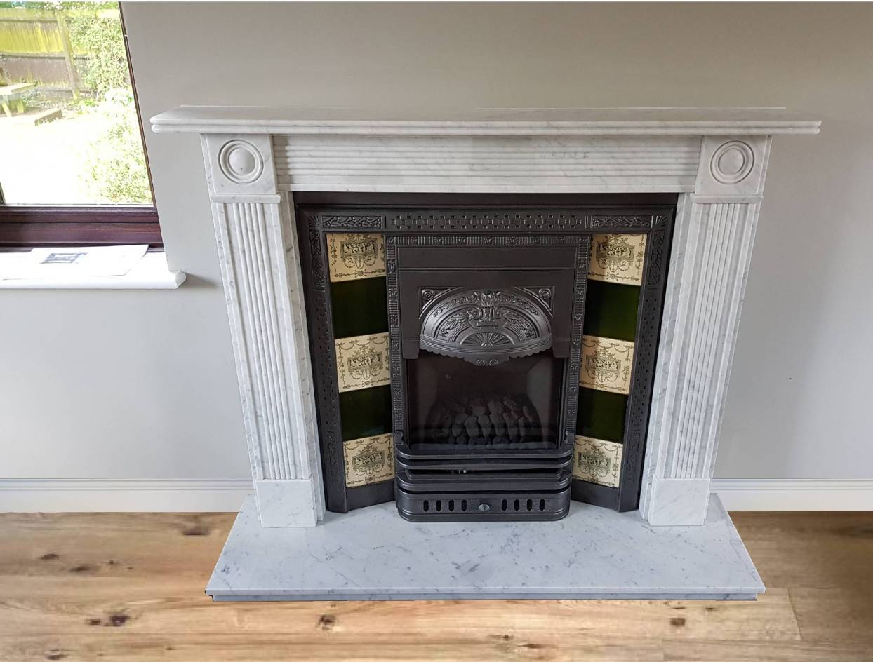 Buy Online Carrara Mable 48 Fireplace Hearth