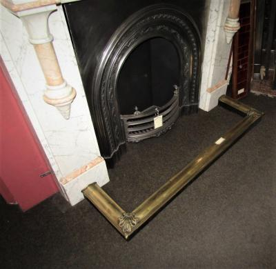 Antique arts and craft fireplace fender