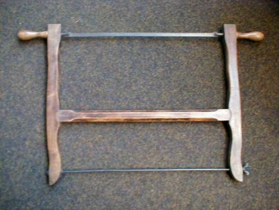Antique Wood Bow Saw