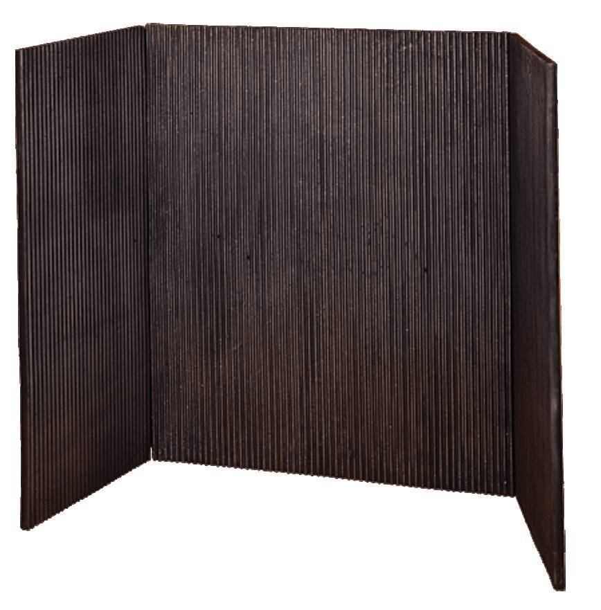 Cast Iron fire basket reeded panels