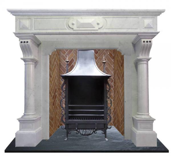 antique tall marble surround