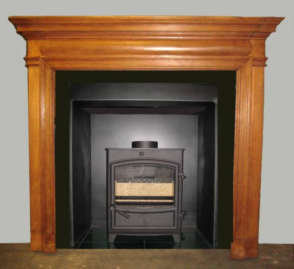 Antique Large Edwardian Oak Surround