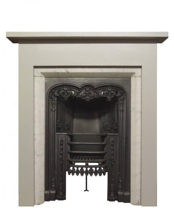 Antique Carrara Marble Slips with a reproduction Georgian Surround