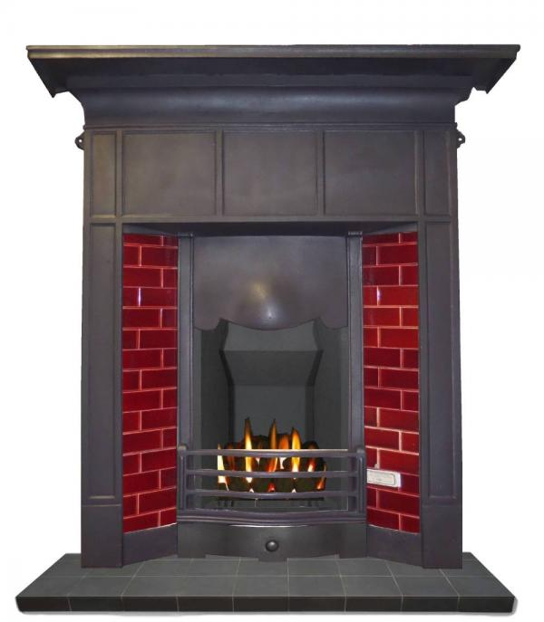 antique 1920 fireplace
