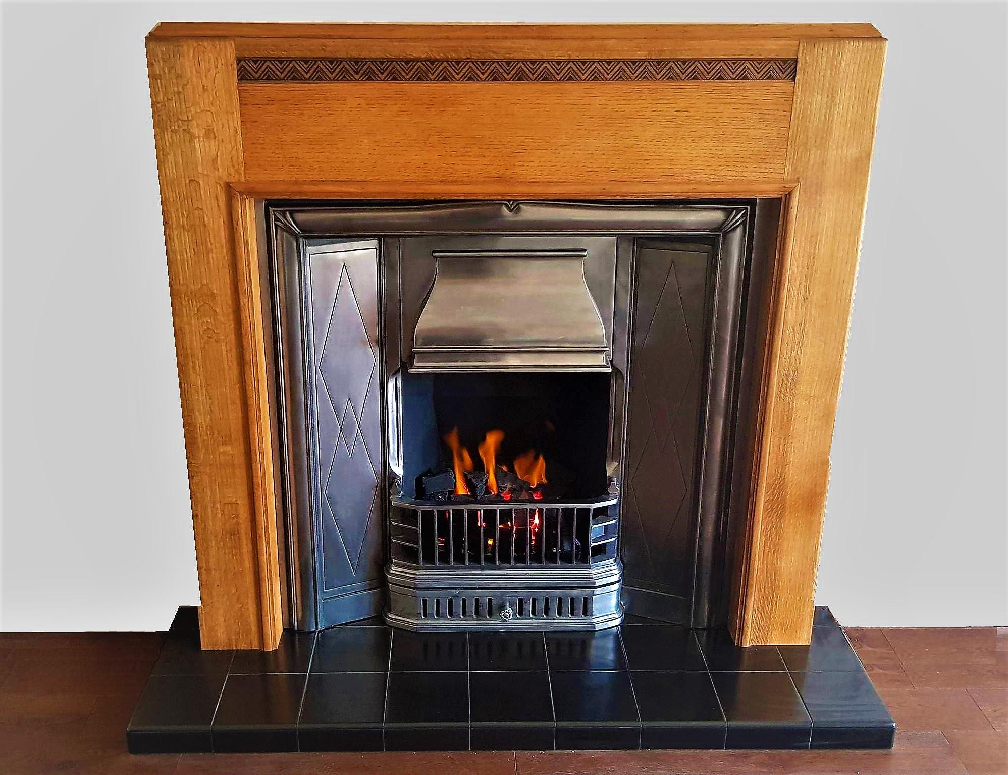 The Retro 1930s Period Cast Iron Insert Fireplace