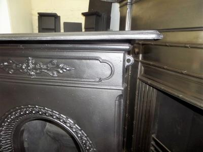 antique vic cast iron fireplace