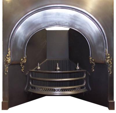 Antique Victorian Burnished / Brass Arched Insert