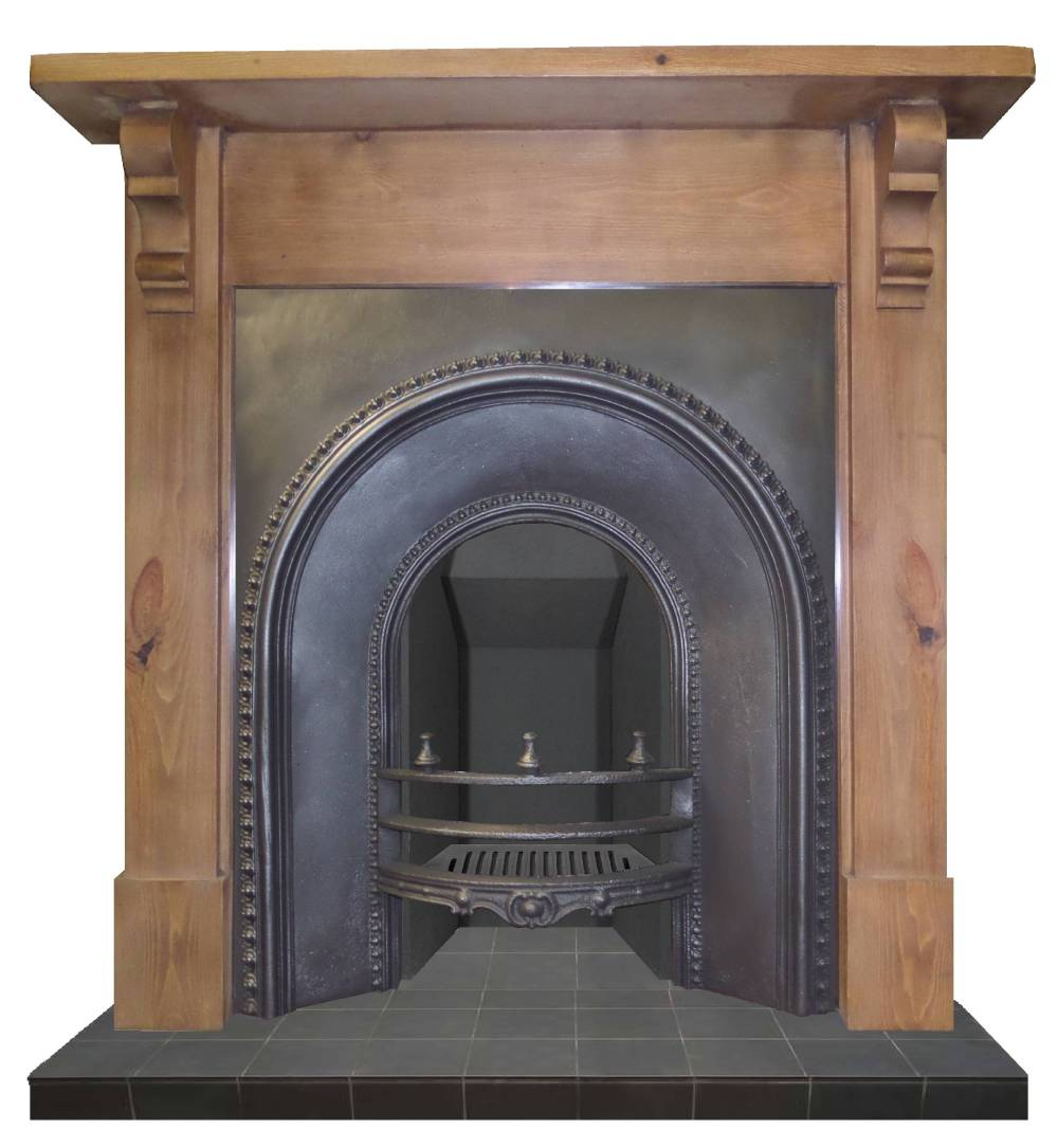 Antique victorian arched cast iron fireplace insert Victorian fireplace restoration