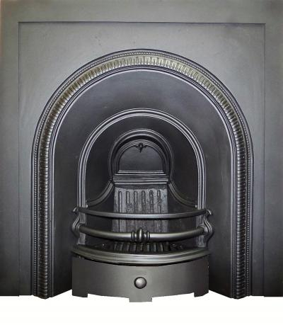 edwardian cast iron arch fireplace