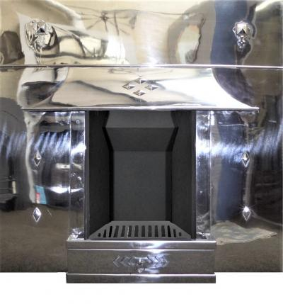 Art Deco Stainless Polished Fireplace