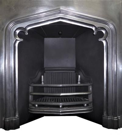 antique Victorian Tudor Gothic fireplace