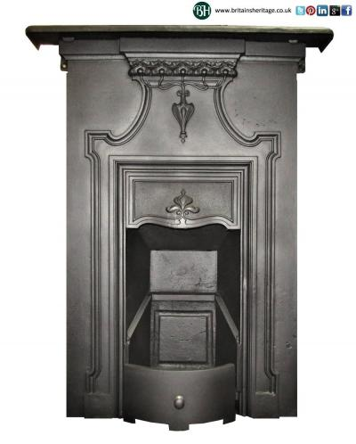 Antique Art Nouveau Bedroom fireplace