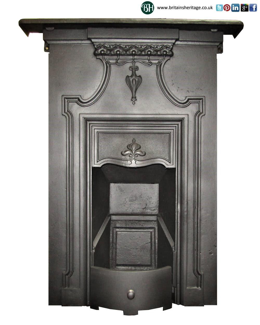 Antique Vintage Bedroom Fireplace: Buy Online: Art Nouveau Antique Bedroom Cast Iron Fireplace