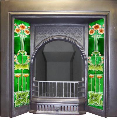 antique victorian tiled fireplaces