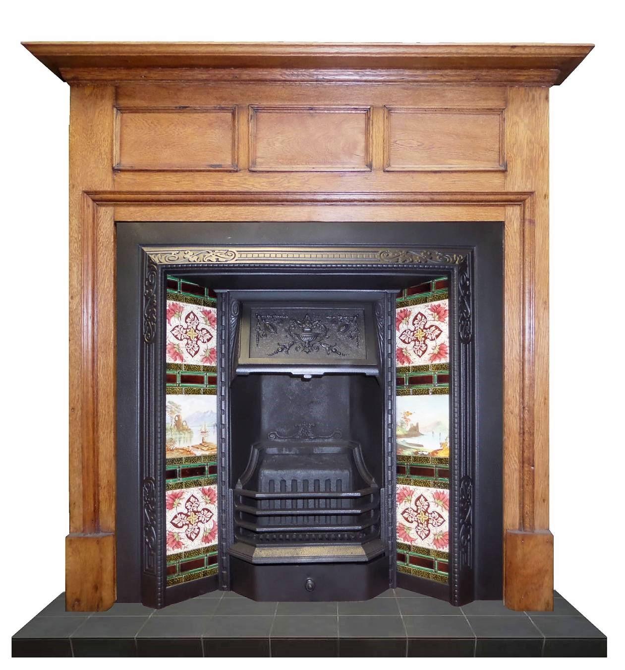 Buy Online Antique Victorian Cast Iron Fireplace Insert