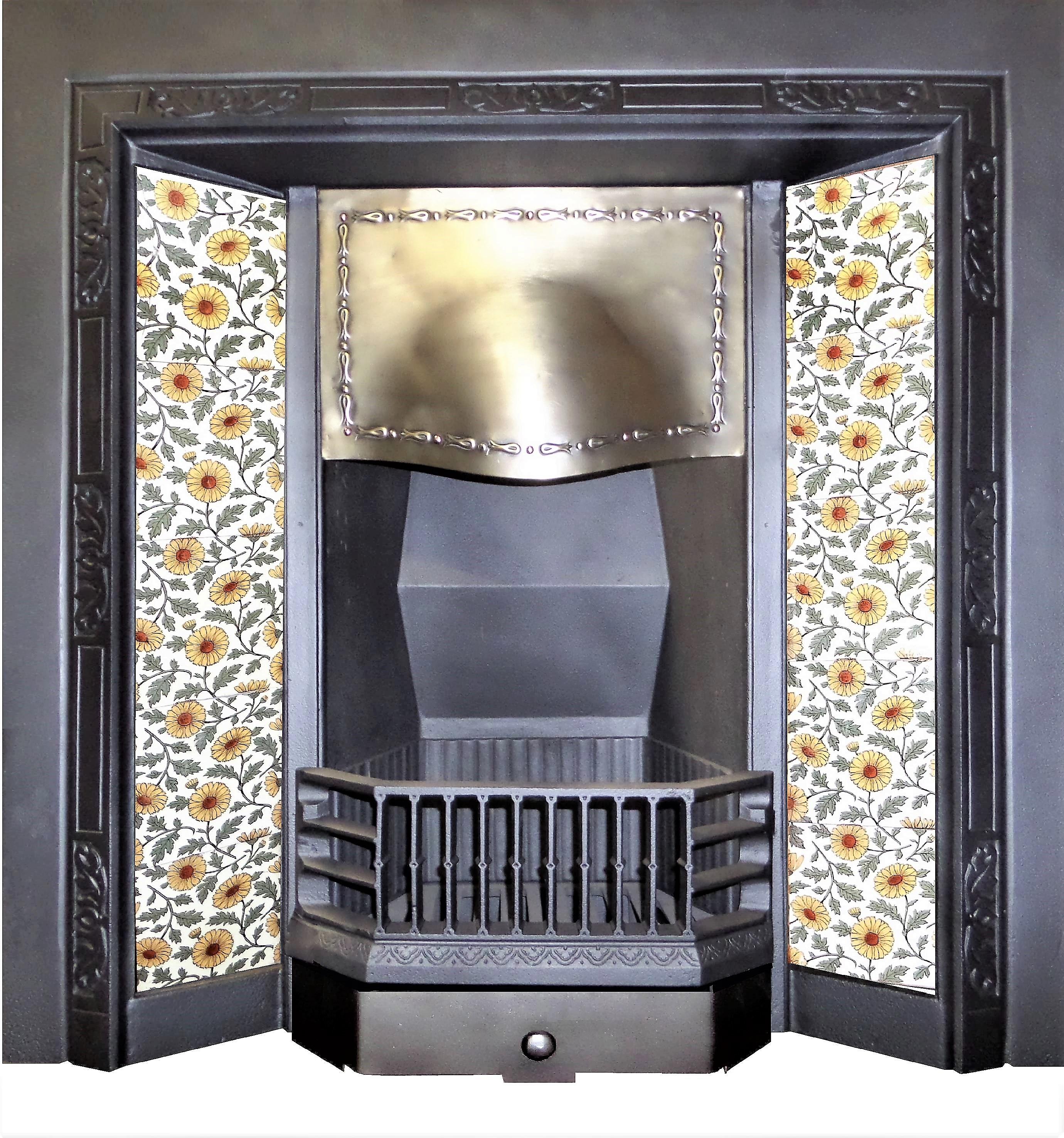 Marvelous Buy Online Antique Edwardian Brass Tiled Cast Iron Download Free Architecture Designs Pushbritishbridgeorg