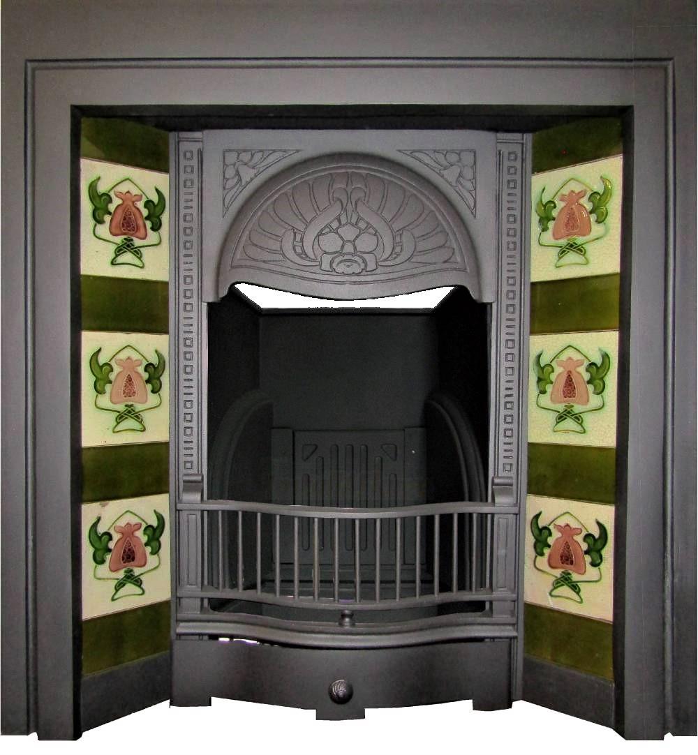 Buy Online Antique Art Nouveau Fireplace Tile Fireplace