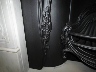 reproduction fireplace cast iron insert