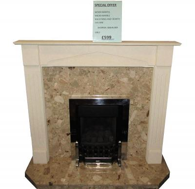 marble gas fireplace