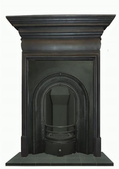 Buy Online Antique Victorian Cast Iron Arched Fireplace