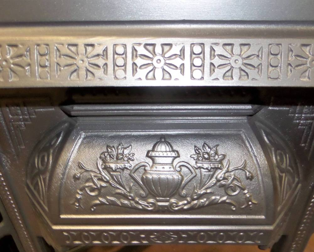 Antique Victorian Cast Iron Fireplace Insert For Tiles