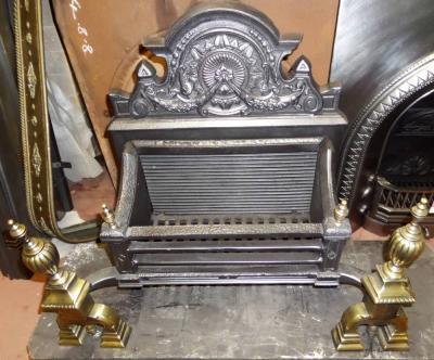 Antique Georgian Cast Iron Fire Grate Basket Fireplace