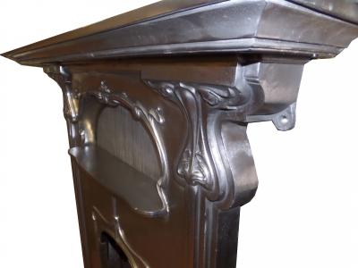 Britain`s Heritage Art Nouveau fireplace