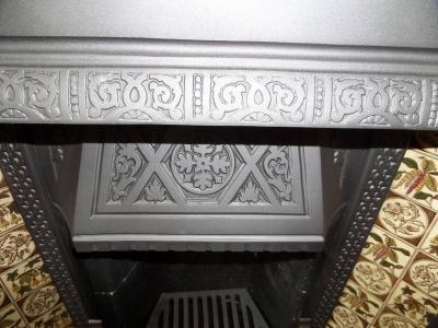 antique tiled fireplace cast iron