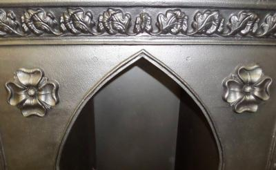 antique victorian tudor fireplace