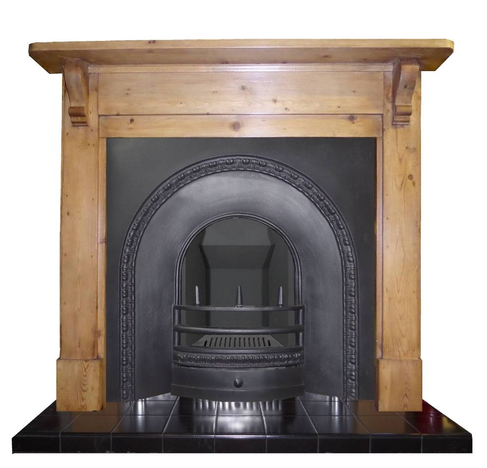 Antique victorian cast iron arched fireplace insert Victorian fireplace restoration