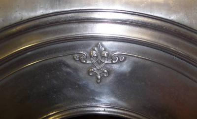 ANTIQUE ARTS AND CRAFT PERIOD ARCHED INSERT BURNISHED