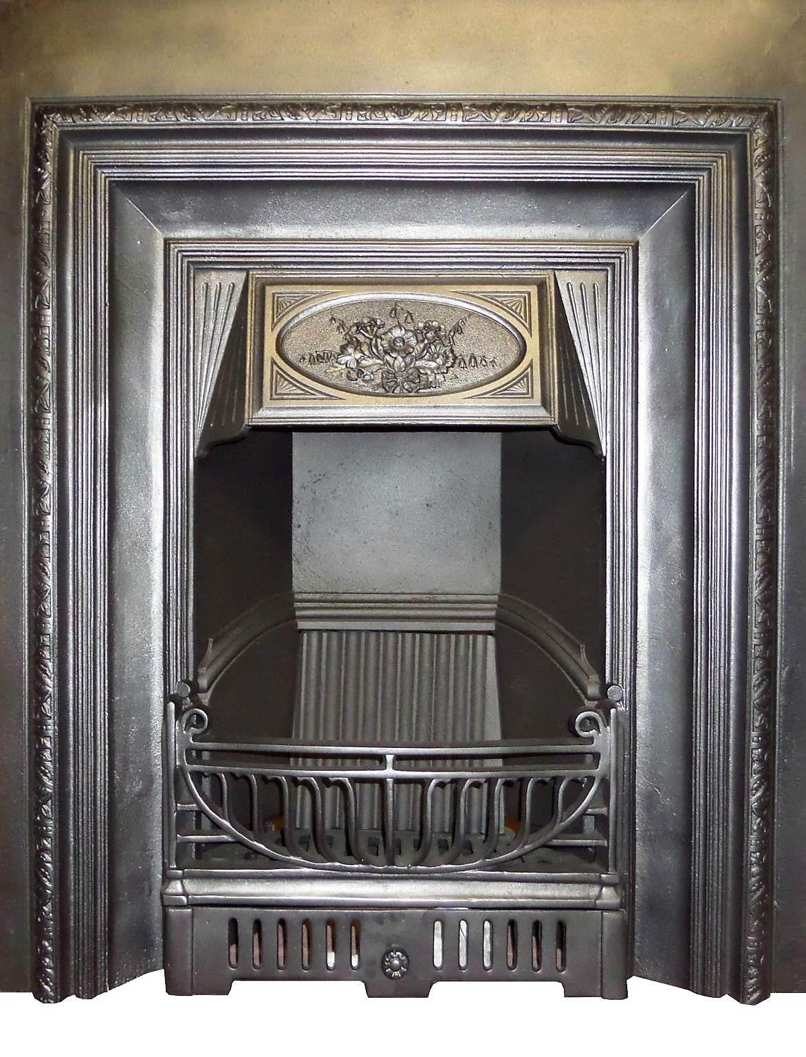 Antique victorian cast iron fireplace insert Victorian fireplace restoration