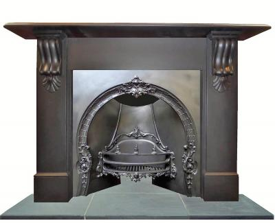 antique victorian fireplace arch insert