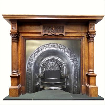 victorian polished fireplace insert
