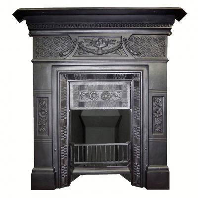 Antique victorian cast iron croshwaite 1884 fireplace Victorian fireplace restoration