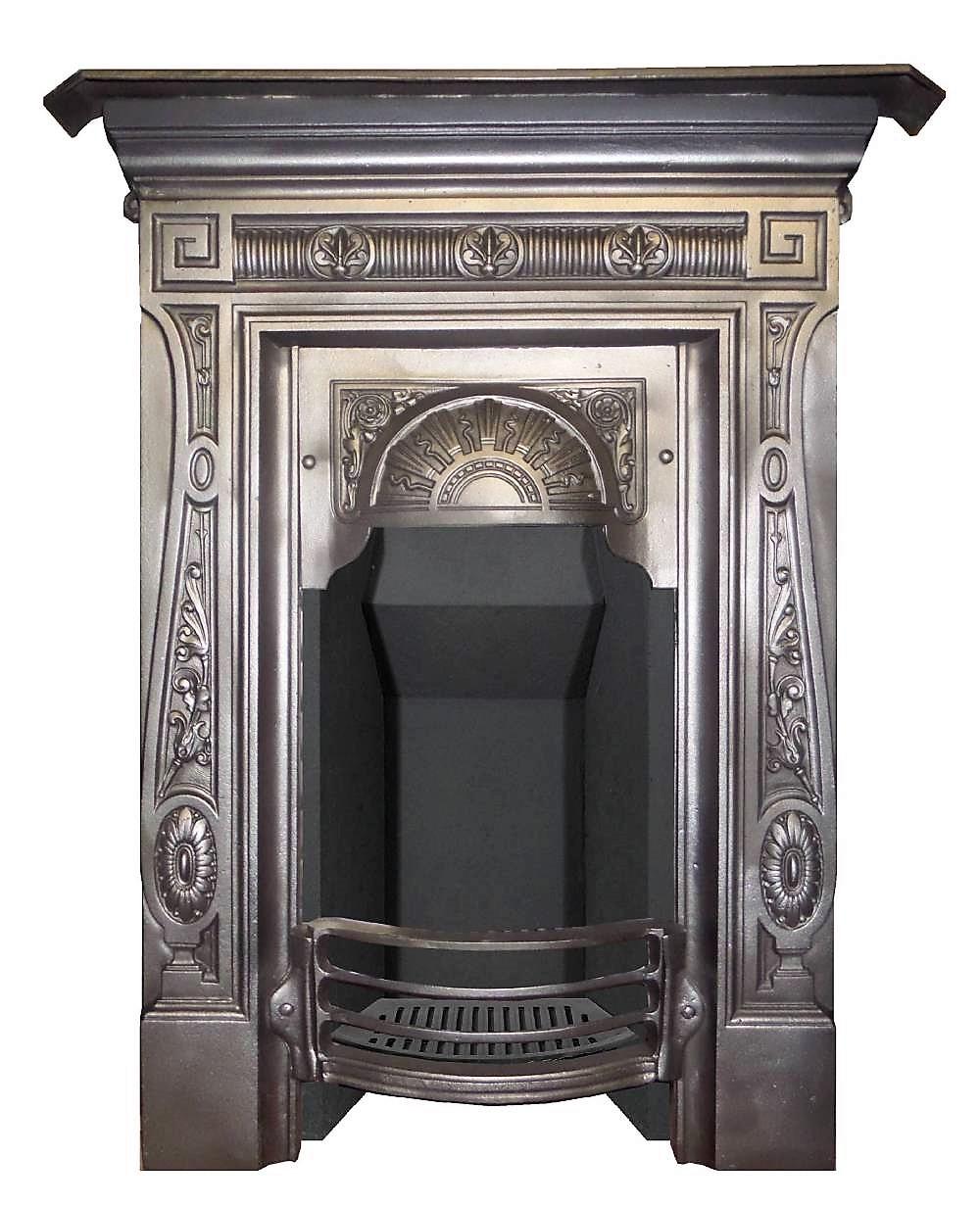 Antique Victorian Cast Iron Bedroom Combination Fireplace