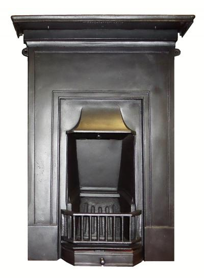 antique cast iron bedroom fireplace