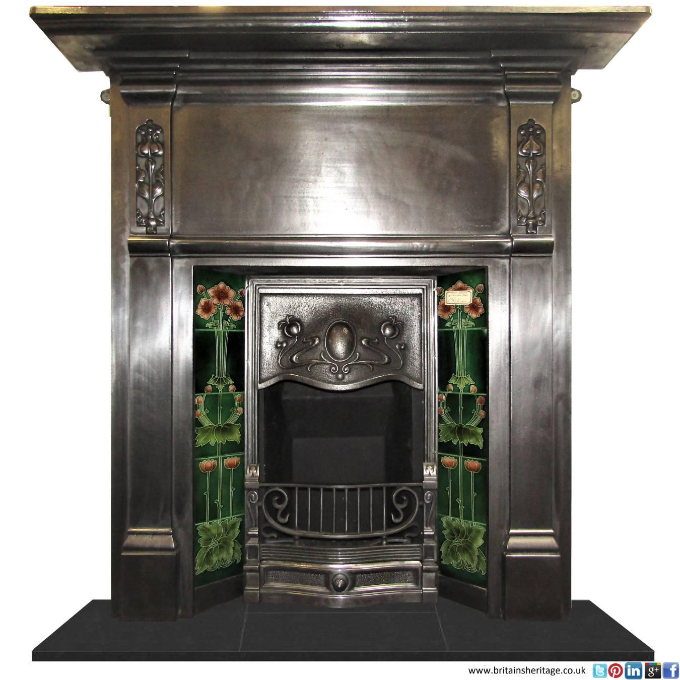 Buy Online Antique Art Nouveau Burnished Cast Iron