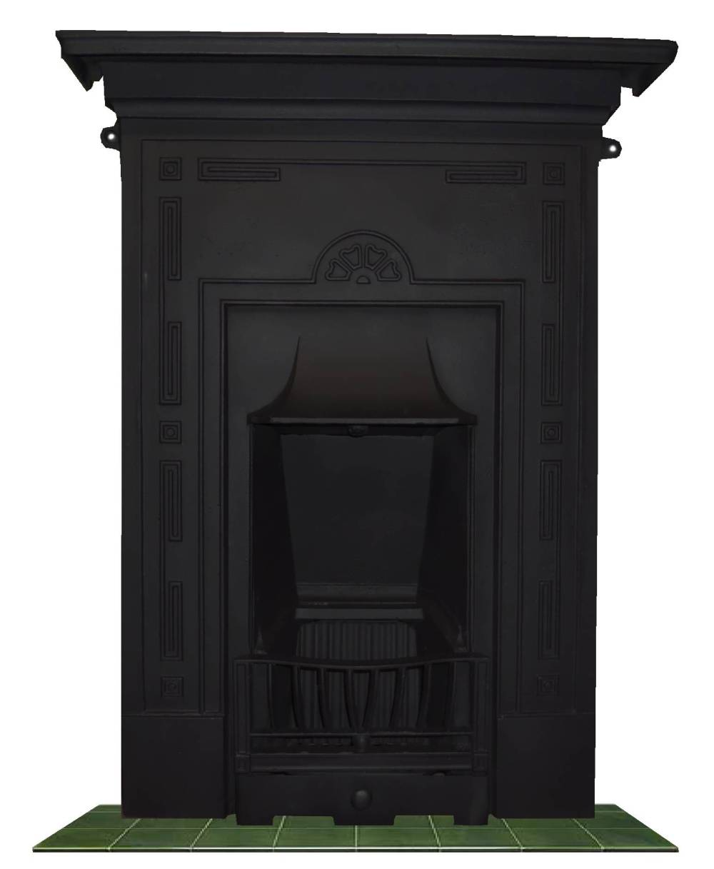 Antique 1920 Cast Iron Bedroom Fireplace