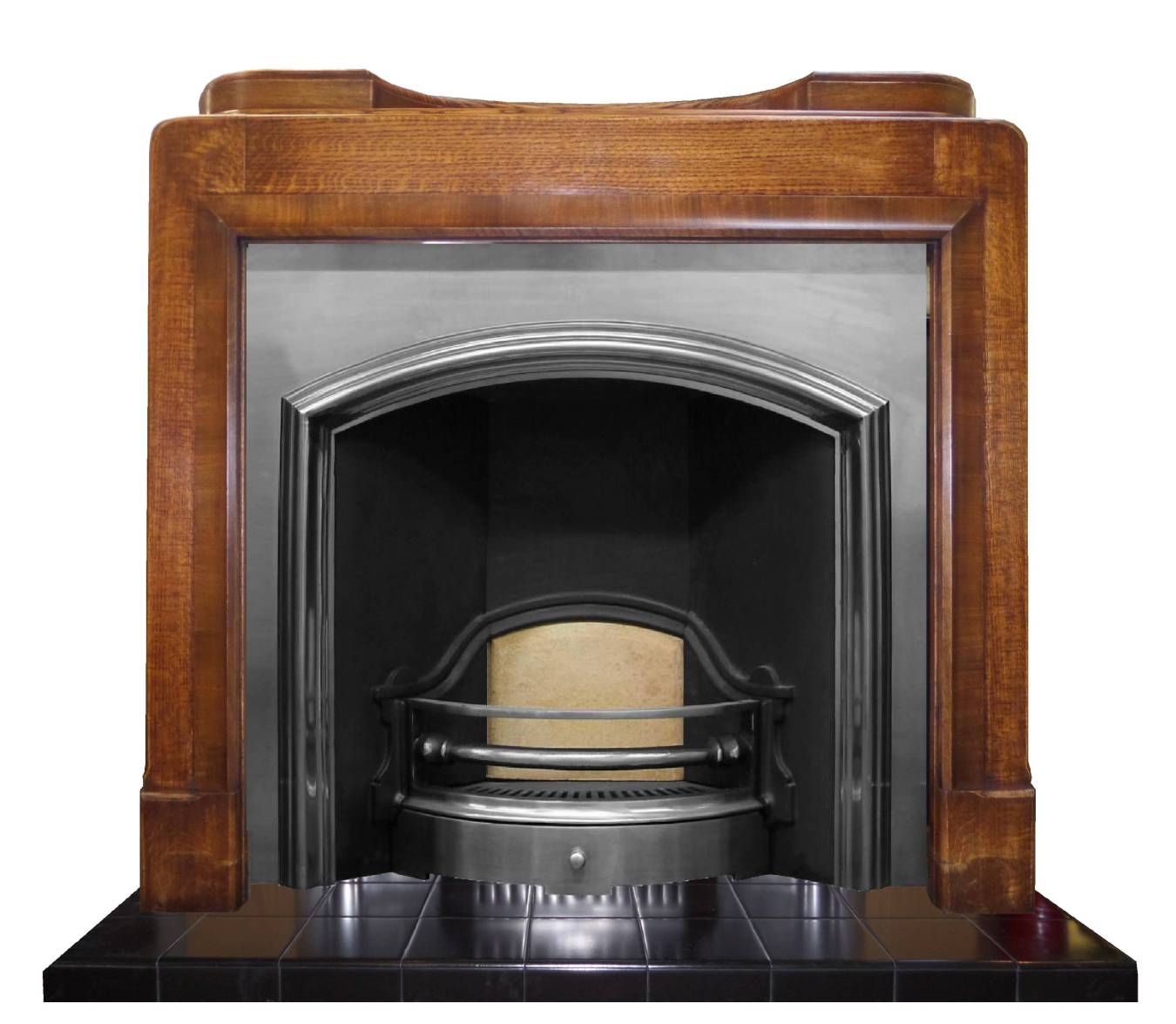 Buy Online The Melrose Polished Wide Cast Iron Fireplace