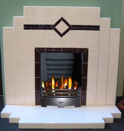 Art Deco Period Tiled Fireplace
