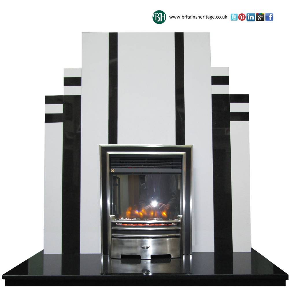 Buy Online The Earl Art Deco Retro Fireplace