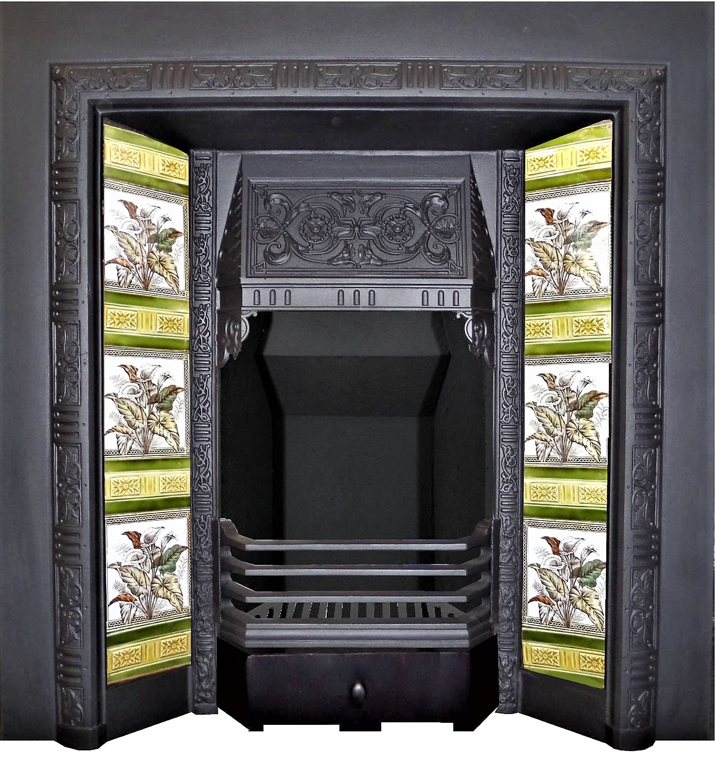 Buy Online Antique Victorian Circa 1880 Tiled Fireplace