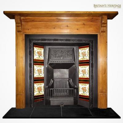Buy Online Tile Victorian Cast Iron Fireplace Insert