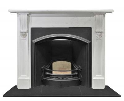 antique Victorian arch fireplace