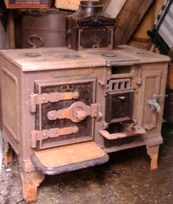 Antique Kitchen Range Before Restoration