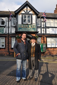 Nick Knowles in front of britains heritage