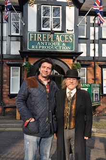 Nick Knowles outside britains heritage with Jeff Dennis